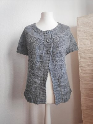 She Knitted Bolero light grey-grey