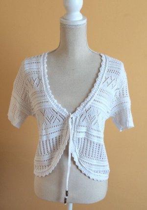 Gina Benotti Crochet Cardigan white