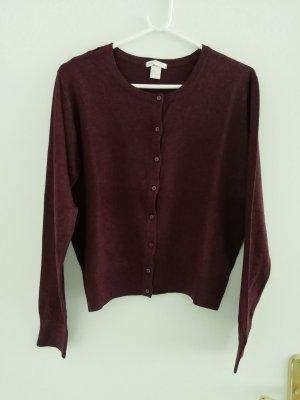 H&M Gilet tricoté bordeau