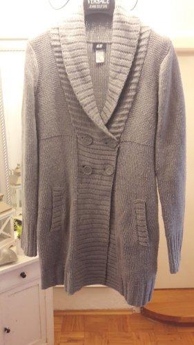 H&M Smanicato lavorato a maglia grigio chiaro