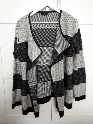 Amisu Coarse Knitted Jacket white-black
