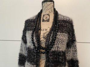 Esmara Veste tricotée en grosses mailles noir-blanc