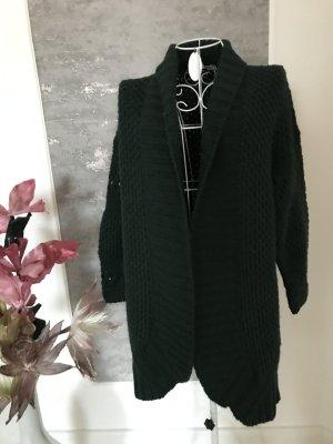 Cardigan a maglia grossa verde scuro Tessuto misto