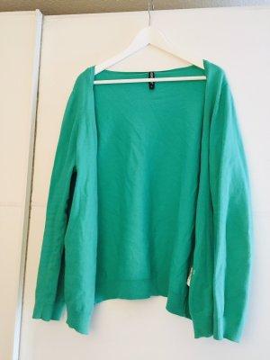 1982 Veste en tricot vert-vert clair