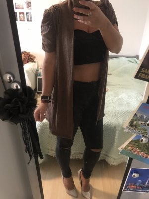 Tkmaxx Knitted Cardigan brown-cognac-coloured