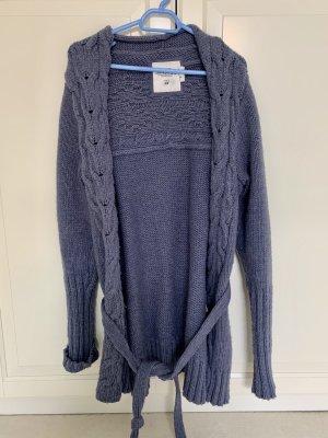 H&M Cache-cœur en tricot gris ardoise-bleuet