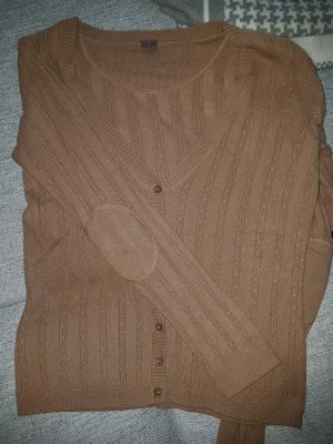 Strickjacke Cardigan Cashmere-Wolle  Camel 38 s/m
