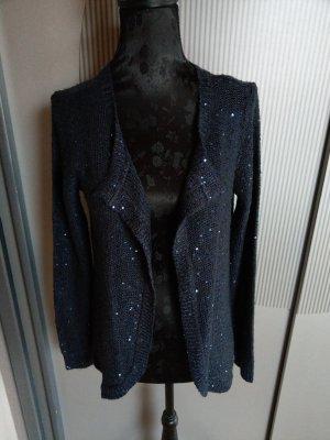 Strickjacke Cardigan dunkelblau Pailletten Jaqueline de Yong