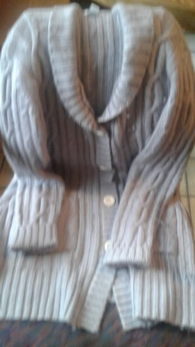 TCM Coarse Knitted Jacket silver-colored-light grey