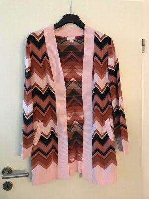 Gharani Strok Long Knitted Vest multicolored
