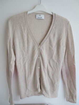 Allude Cardigan tricotés beige clair-rouge cachemire