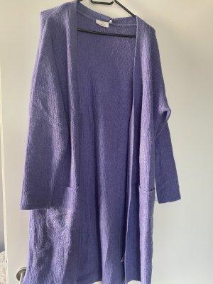 Strickjacke Cardigan Kimono 42 XL lila Flieder Kaffe