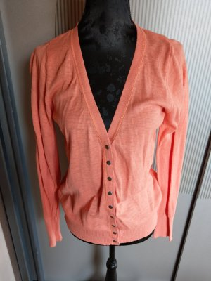 Strickjacke Cardigan korallrot coral colours of the world