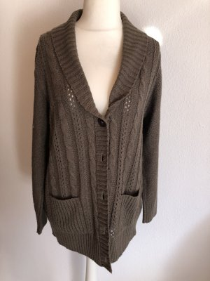 Strickjacke Cardigan lang warm oversized Gr. 46