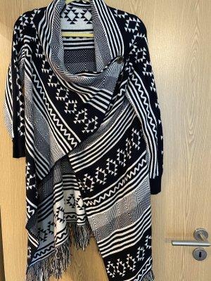 Cardigan in maglia nero-bianco