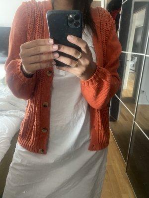 Strickjacke Cardigan Pullover XL 42 orange