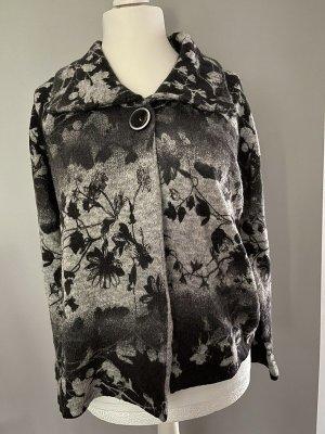Gerry Weber Edition Cardigan a maglia grossa argento-nero Tessuto misto