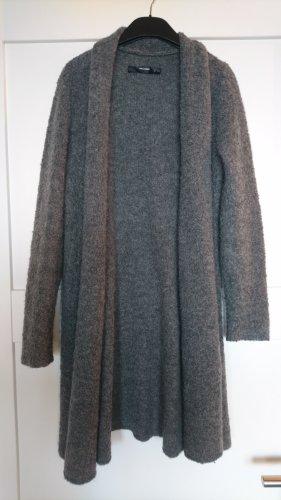 Hallhuber Cappotto a maglia grigio scuro-antracite