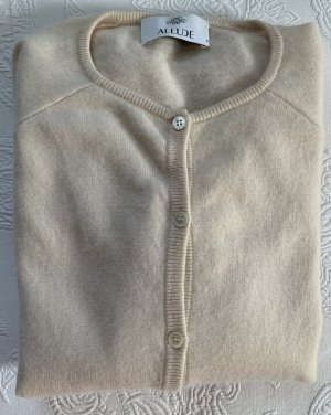 Allude Cardigan natural white cashmere