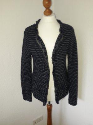 Cocogio Coarse Knitted Jacket grey-dark blue