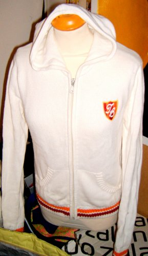 Authentics Veste en tricot blanc-orange clair