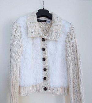 Cardigan a maglia grossa bianco-bianco sporco Acrilico