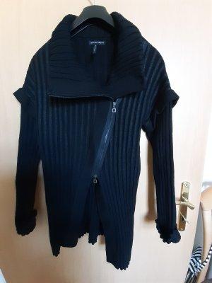 Sarah Pacini Veste tricotée en grosses mailles noir acrylique