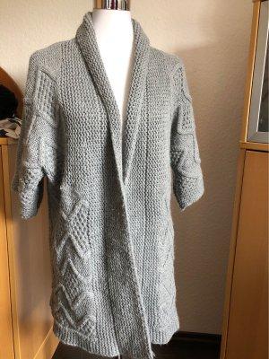 Short Sleeve Knitted Jacket light grey