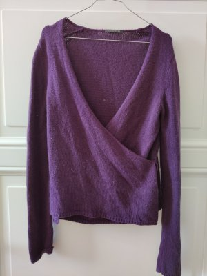 Strenesse Knitted Wrap Cardigan dark violet