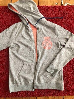 Peckott Chaqueta estilo camisa gris-rojo claro