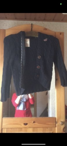 Hollister Coarse Knitted Jacket blue