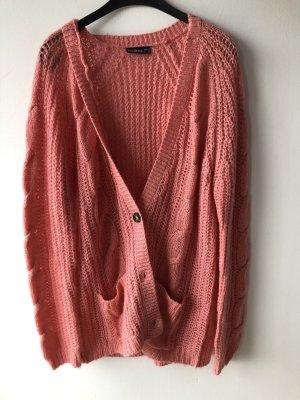 Gilet tricoté rose