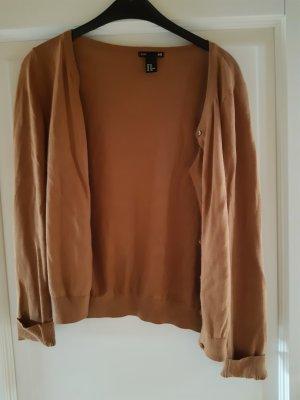 H&M Basic Cardigan cognac-coloured