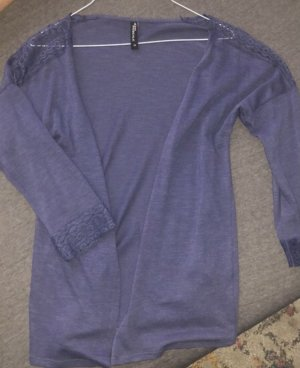 jean pasquale Sweter bez rękawów z cienkiej dzianiny stalowy niebieski