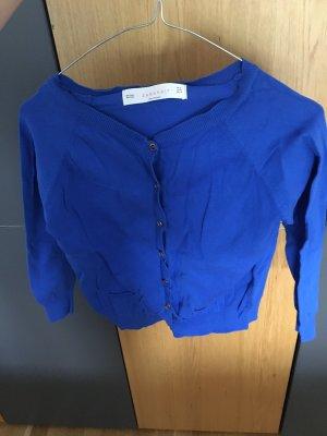 Zara Veste en tricot bleu
