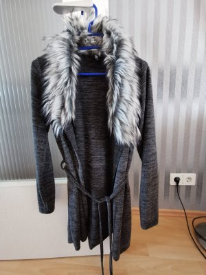 Strickjacke Fell Kragen Gr. S Grau
