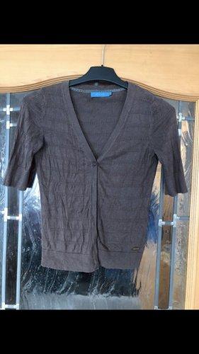 Coolwater Cardigan a maniche corte marrone-grigio