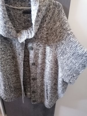 Blind Date Coarse Knitted Jacket light grey-grey