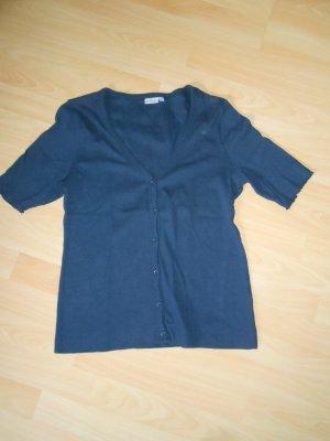 Blue Motion Cardigan à manches courtes bleu foncé coton