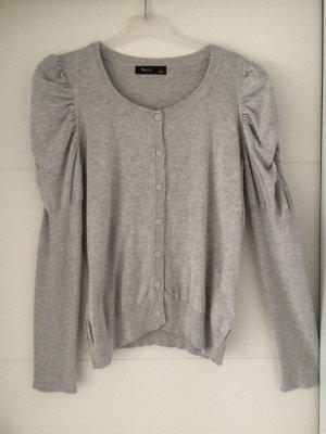 Flame Veste en tricot gris clair coton