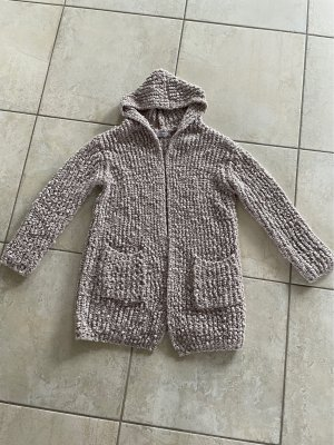 Flex Moda Coarse Knitted Jacket oatmeal-beige cotton