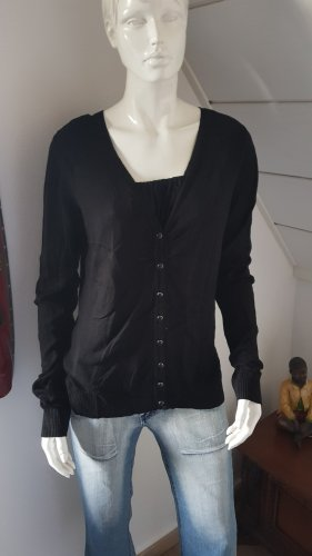 Flame Veste en tricot noir
