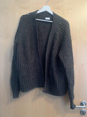 Vila Coarse Knitted Jacket grey-dark grey