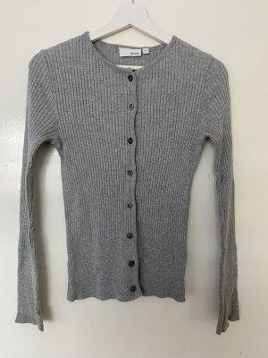 H&M Veste en tricot gris clair