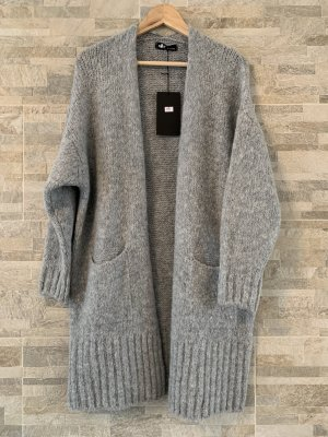 Knitted Coat grey mixture fibre
