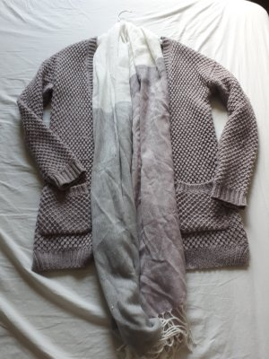 Atmosphere Coarse Knitted Jacket grey lilac-mauve