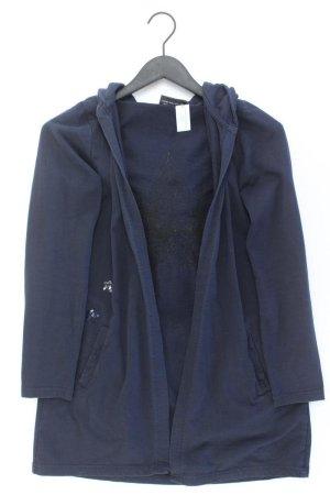 Strickjacke Größe 40 Langarm mit Pailletten blau aus Baumwolle