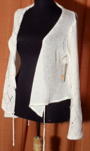 Evis Knitted Bolero natural white