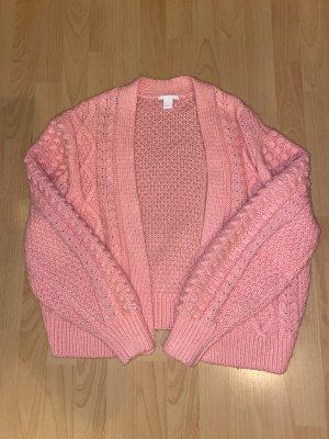 H&M Cardigan a maglia grossa rosa