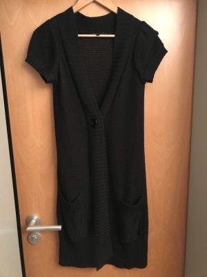 Hallhuber Short Sleeve Knitted Jacket black cotton